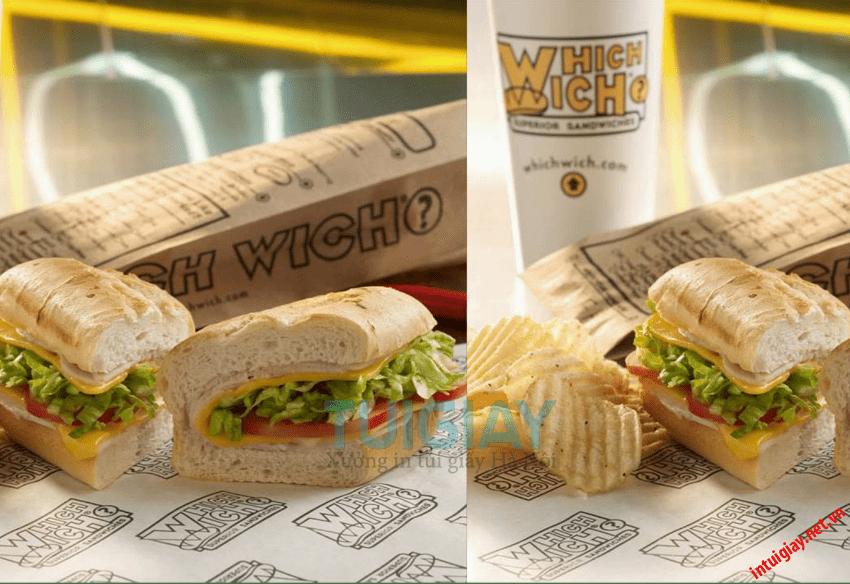 in túi giấy đựng bánh mì chất lượng