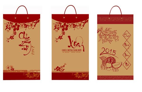 Mẫu túi giấy đựng lịch tết đẹp giá rẻ