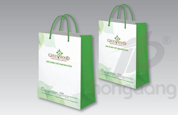 Mẫu túi giấy đựng thực phẩm sạch