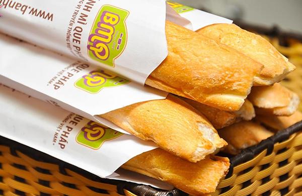 Mẫu túi giấy đựng bánh mỳ chuyên nghiệp