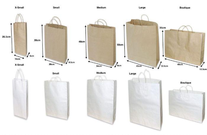Các kích thước phổ biến của túi giấy đựng quà