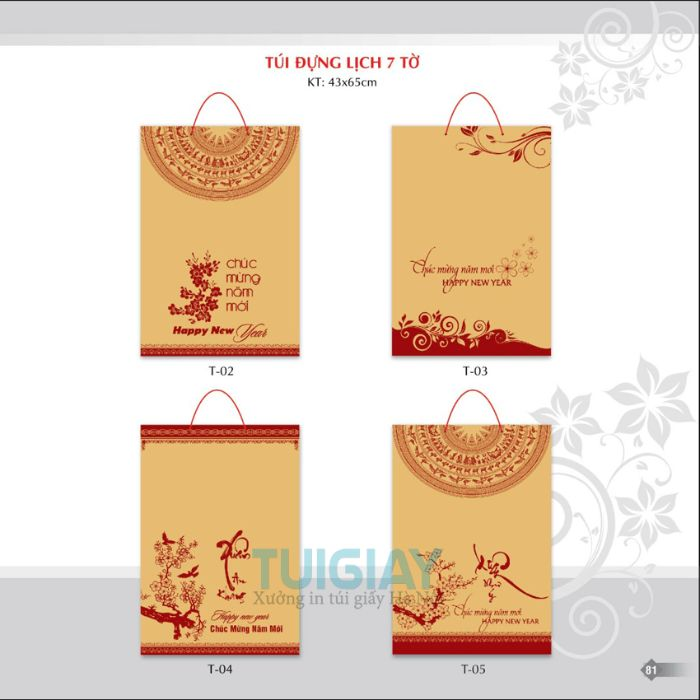 Intuigiay.net.vn là địa chỉ đặt in túi giấy đựng lịch tết đảm bảo chất lượng