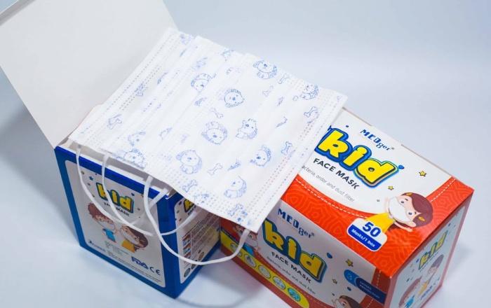 Mẫu hộp giấy đựng khẩu trang trẻ em