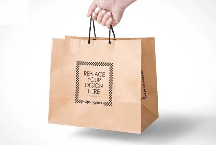 Túi giấy có quai sợi mút