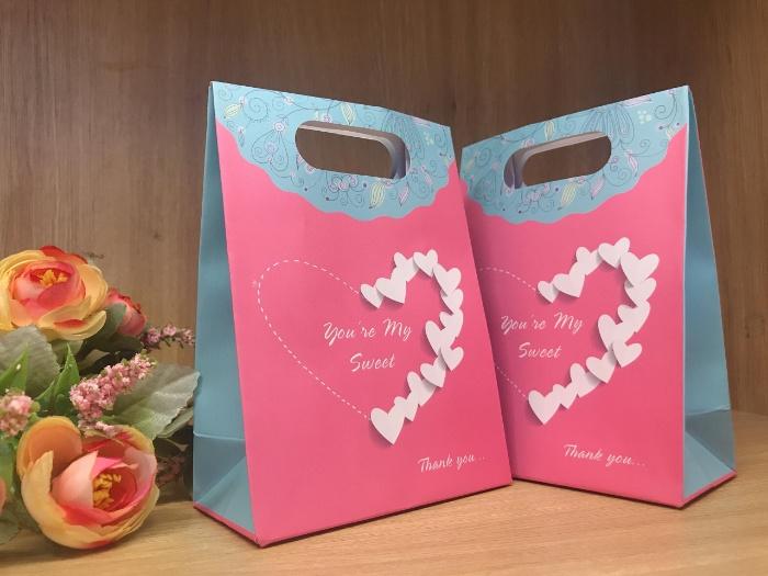 Túi nắp gập là túi đựng quà đẹp có thiết kế sang trọng, đẹp mắt, được làm từ giấy bìa