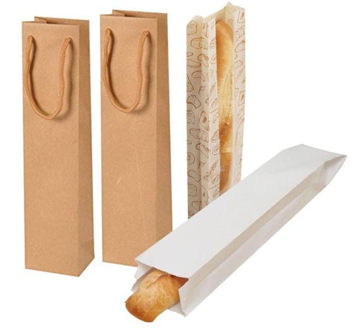 Túi giấy đựng bánh mì các kích thước đẹp và chắc chắn